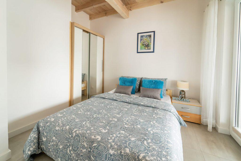 Domek Niebieski łóżko podwójne