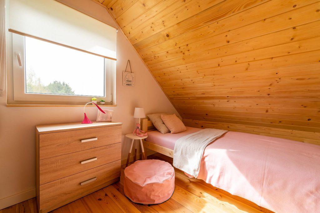 Domek Różowy łóżko pojedyncze